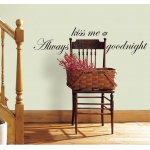 RoomMates Always Kiss Me Goodnight Quote Wall Decals