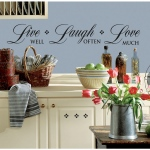 RoomMates Live Well, Laugh Often, Love Much Quote Wall Decals