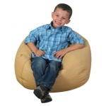 "The Children's Factory Round Bean Bag: 35"", Almond"