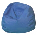 "The Children's Factory Round Bean Bag: 34"", Deep Water"