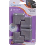 Dreambaby® Foam Corner Bumpers: Grey, Pack of 4
