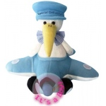"11"" ""Airborn"" Stork - Baby Boy Sings ""Hush Little Baby"""