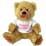 "12"" ""Noah"" Bear ""Hand Made by God"" Bear with Pink Shirt"