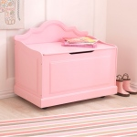 Kidkraft Raleigh Toy box Pink: The convenient casters mean parents can easily move it from room to room
