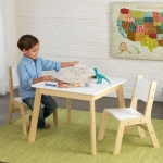 Kidkraft Modern Table & 2 Chair Set: Made of Composite wood materials