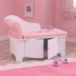 Kidkraft Princess Chaise Lounge: Comfortable seat cushion