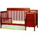AFG Kimberly 3-in-1 Convertible Crib and Changer Combo: Cherry