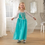Kidkraft Ice Princess - S: Aqua colored piping on skirt and cape