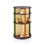 Guidecraft See & Store Media Carousel: Featuring earth-toned panels and playful shapes, the See and Store Furniture Collection is ideal for all playrooms, bedrooms, or living rooms., 360� rotating carousel offers three different levels ideal for storing