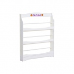 Guidecraft Expressions Bookrack White: can be personalized, solid construction, metal hardware, mounting hardware included (G87107)