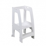 Guidecraft Step-Up Kitchen Helper: White: 2 platform heights, hand holds, holds 200lbs, safely elevates children (G97328)
