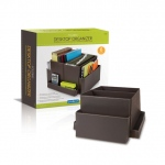 Guidecraft Folding Desk Organizer Brown: Suitable for everyday use in a business or home office, 6 vinyl compartments ensure durability and easy-cleaning, 5-Year Limited Warranty, Accommodates a wide range of office supplies (G6521)