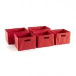 Guidecraft Set of 5 Bins Red