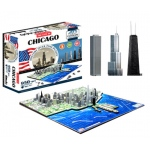 4D Chicago Skyline Time Puzzle