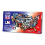 MLB USA Shaped Puzzle Baseball Across America