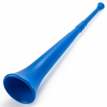 Blue 26in Plastic Vuvuzela Stadium Horn, Collapses to 14in