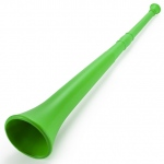 Green 26in Plastic Vuvuzela Stadium  Horn, Collapses to 14in
