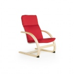 Guidecraft Nordic Rocker - Red: Sturdy construction; Steam-bent plywood construction; Lightweight; Removable cushion (G6434K)