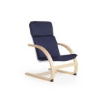Guidecraft Nordic Rocker - Blue: Sturdy construction; Steam-bent plywood construction; Lightweight; Removable cushion (G6440K)