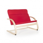 Guidecraft Nordic Couch - Red: Sturdy construction; Steam-bent plywood construction; Lightweight; Removable cushion (G6451K)