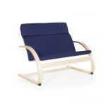 Guidecraft Nordic Couch - Blue: Sturdy construction; Steam-bent plywood construction; Lightweight; Removable cushion (G6452K)