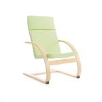 Guidecraft Nordic Rocker - Sage Green: Sturdy construction; Steam-bent plywood construction; Lightweight; Removable cushion (G6610K)