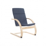 Guidecraft Nordic Rocker - Denim: Sturdy construction; Steam-bent plywood construction; Lightweight; Removable cushion (G6611K)