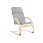Guidecraft Nordic Rocker - Gray: Sturdy construction; Steam-bent plywood construction; Lightweight; Removable cushion (G6612K)