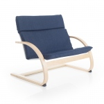 Guidecraft Nordic Couch - Denim: Sturdy construction; Steam-bent plywood construction; Lightweight; Removable cushion (G6614K)