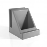 Guidecraft Tabletop Audio Center - Gray: Storage for headphones, Notebooks; Holds tablets; Rubberized feet (G6623)