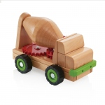 Guidecraft Big Block Cement Mixer Truck: Large beech wooden cement truck; 5 gears; Teaches children to investigate the mechanics of gears; Teach simple machine and STEM concepts (G7530)