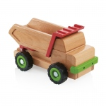 Guidecraft Big Block Dump Truck: Large beech wooden dump truck; Uses levers to move flatbed; Teaches simple machine and STEM concepts (G7531)