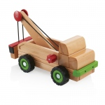 Guidecraft Big Block Tow Truck: Large beech wooden tow truck; Use wheel and axel technology to raise and lower Unit Blocks; Crank the handle to watch how the pulley works; Teaches simple machine and STEM concepts (G7532)