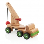 Guidecraft Big Block Wrecking Ball Truck: Large beech wooden truck; Removable articulating trailer with a large wooden crane; Use the wrecking ball to knock down Unit Block structures; Teaches simple machine and STEM concepts (G7533)
