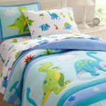 Wildkin Olive Kids Dinosaur Land Twin Lightweight Comforter Set