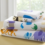 Wildkin Olive Kids Endangered Animals Twin Sheet Set