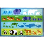 Wildkin Olive Kids Endangered Animals 39x58 Rug