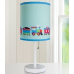 Wildkin Olive Kids Trains, Planes, Trucks Cylinder Lamp