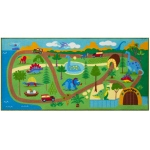 Wildkin Olive Kids Dinosaur Land Play Rug