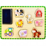 Puzzle Stampers Barnyard Animals