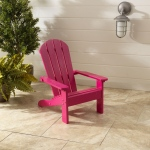 Kidkraft Adirondack Chair Pink: Made of weather-resistant wood