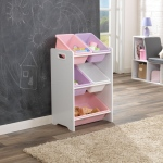 Kidkraft 5 Bin Storage Unit - White: Five separate bins for toys, shoes, and games.