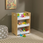 Kidkraft Angled Bin Unit - Natural with White Shelves