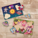 Kidkraft Chunky Piece Outer Space Puzzle: 6 easy to grab pieces for little hands