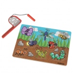 Kidkraft Bug Magnetic Puzzle: Catch 8 critters using the magnetic net