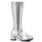 Dora (Silver) Child Boots: Silver, X-Large, Everyday, Female, Child