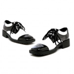Fred (Black/White) Adult Shoes: Black, Small, Everyday, Male, Adult
