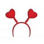 Heart Head Bopper: Red, One-Size, Valentine's Day, Unisex, Adult