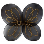 Bumble Bee Child Wings: Black, One-Size, Everyday, Female, Child