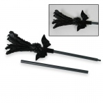 Forum Novelties Black Feather Sparkle Broom One Size